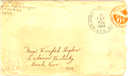 1944-11-18 - 3.75 X 6.25 envelope - letter G - 3 pages - 3.25 X 6.25 bifolded on 9.625 X 6.25 paper