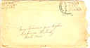1945-01-06 - letter L - partial postmark (lifted stamp) envelope 3.625 X 6.5