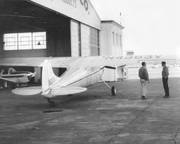 1955 - Tom's plane at hanger