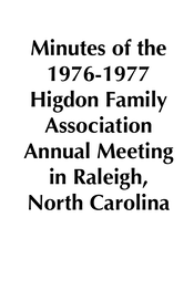 1976 Raleigh NC minutes placeholder