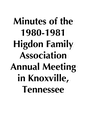 1980-1981 HFA Annual Meeting Minutes