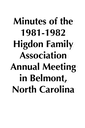 1981-1982 HFA Annual Meeting Minutes placeholder