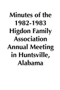 1982-1983 HFA Annual Meeting Minutes