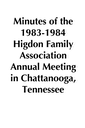 1983-1984 HFA Annual Meeting Minutes