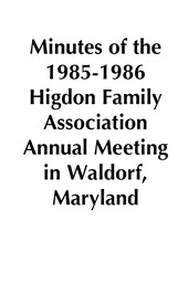 1985-1986 HFA Annual Meeting Minutes placeholder