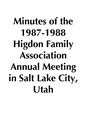 1987-1988 HFA Annual Meeting Minutes