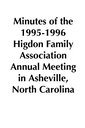 1995-1996 HFA Annual Meeting Minutes