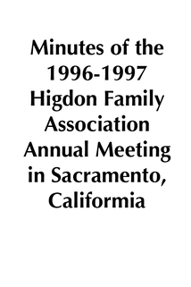 1996-1997 HFA Annual Meeting Minutes