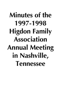 1997-1998 HFA Annual Meeting Minutes