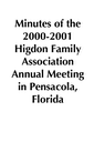2000-2001 HFA Annual Meeting Minutes