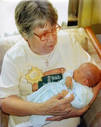2001 - Charlie (1st great-grandchild) and Mary Carmel.2