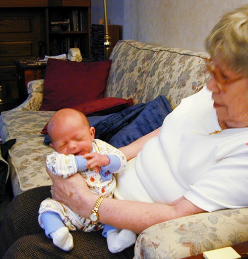 2001 - Charlie (1st great-grandchild) and Mary Carmel.1