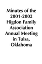 2001-2002 HFA Annual Meeting Minutes