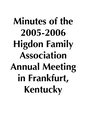 2005-2006 HFA Annual Meeting Minutes