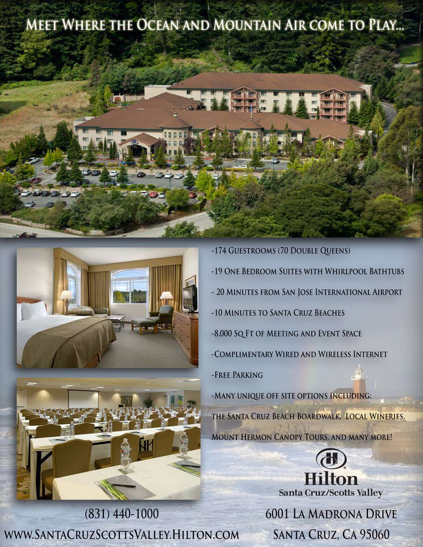 Flyer Hilton Santa Cruz Scotts Valley