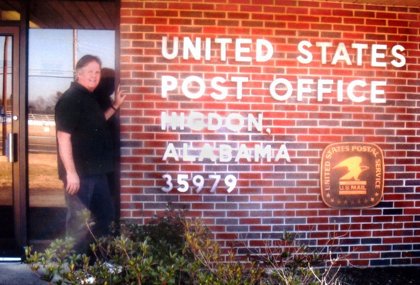 Glen Higdon at Higdon, Alabama post office copy