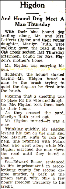 Higdon and Hound Dog Meet a Man Thursday 9-18-1952