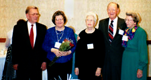 Jack Smith, Jo Ann Smith, Helen Allison, Charles E. Higdon, and Eva Wood attended the 2001 HFA meeting in Tulsa