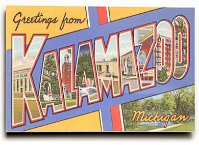 Kalamazoo greeting card
