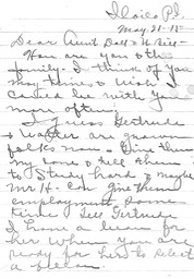 Linnie 1915 letter, page 1