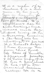 Linnie 1915 letter, page 2