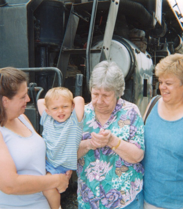Mom Jean, Charlie, Great-Grandma Mary Carmel, and Grandma Nell.2