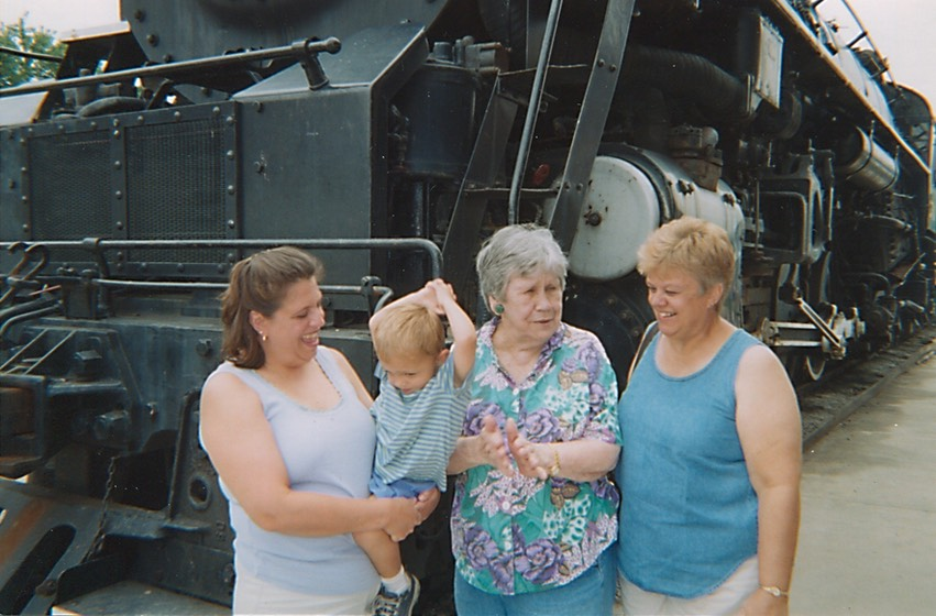 Mom Jean, Charlie, Great-Grandma Mary Carmel, and Grandma Nell.1