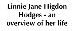 Linnie Jane Higdon Hodges - an overview of her life.placeholder