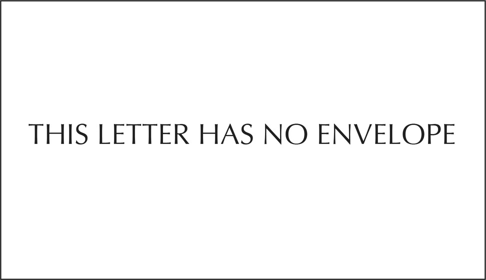 THIS LETTER HAS NO ENVELOPE black edge