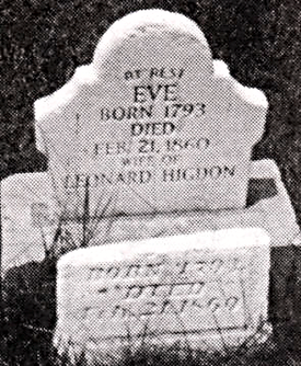 Tombstone of Eve Huffman Higdon